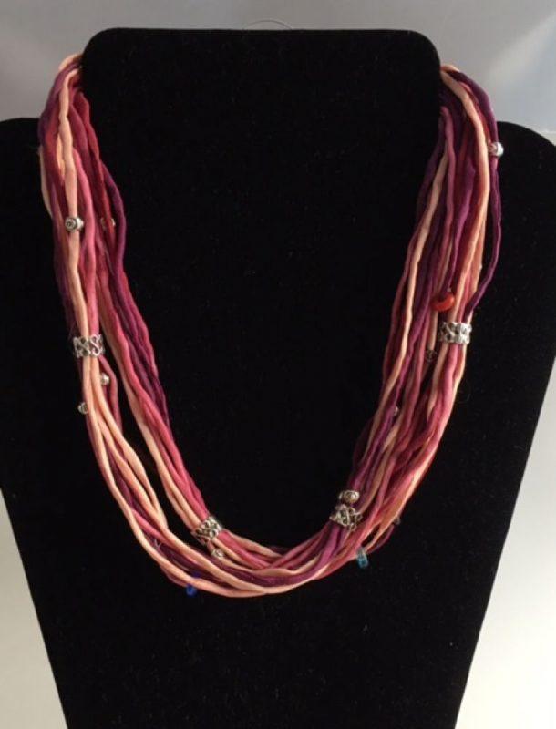 Long Silk Necklaces